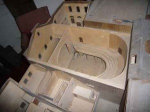 Scale model of the old Abbey Theatre