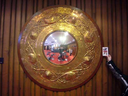 Copper mirror from Old Abbey Theatre