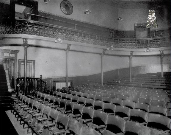 Auditorium of the old Abbey Theatre, c.1904. Reproduced courtesy of the Abbey Theatre.