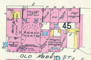 Detail of Fire Insurance Map of Dublin 1 by Charles E. Goad Ltd., 1926 (Sheet 8: 40 feet = 1 inch.) Reproduced from a map in Trinity College Library, Dublin, with the permission of the Board of Trinity College.
