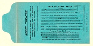 Ticket Envelope for Stalls and Front of Pit, Old Abbey Theatre. Reproduced Courtesy of the National Library of Ireland.