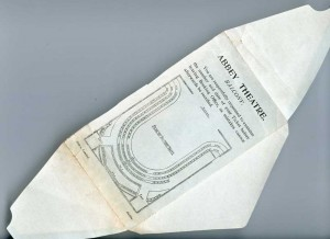 Ticket Envelope for Balcony of Old Abbey Theatre. Reproduced Courtesy of the National Library of Ireland.
