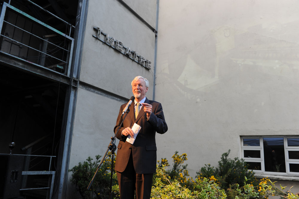 Trinity's Provost, Dr John Hegarty, speaks at the project launch